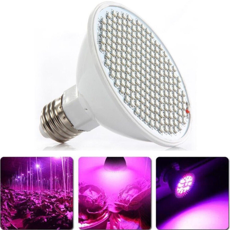 IKVVT 34W Full Spectrum E27 Lamp Bulb LED Grow Light For Hydro Plants Vegs Hydroponic