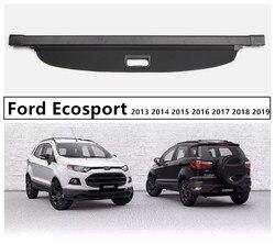 Bagażnika z tyłu pokrywa bezpieczeństwa Cargo pokrowiec na forda Ecosport 2013 2014 2015 2016 2017 2018 2019 wysokiej jakości akcesoria samochodowe