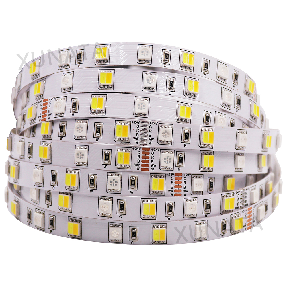 5M RGB LED Strip Light 5050 SMD 12V 24V DC RGBW RGBWW RGB WWA RGB+CCT Flexible Led Tape Stripe Holiday Decoration Lights