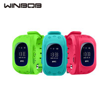 WINBOB Anti Lost Q50 OLED Child GPS Tracker SOS Smart Monitoring Positioning Phone Kids GPS Watch Compatible with IOS & Android