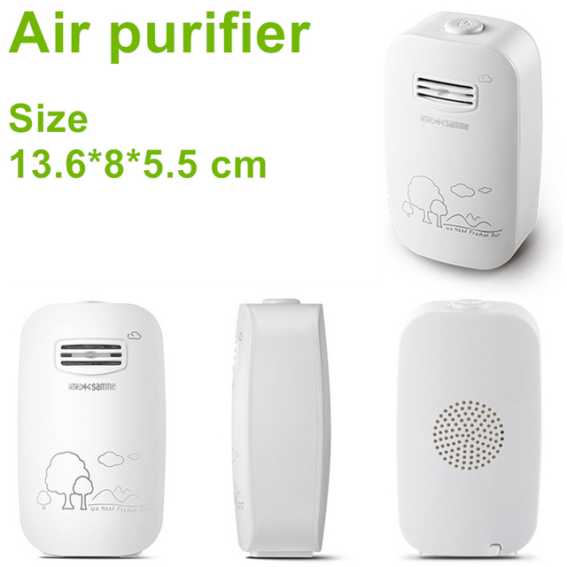 Air Cleaner Home Ionizer Generator Mini Ozonator Air Ionizer Disinfect Sterilizer Fresh Air Purifier Removed Smoke Dust pm 2.5