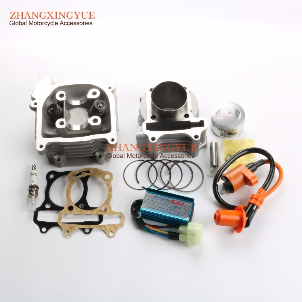 105cc Big Bore Kit, Performance Coil CDI AC for GY6 50cc 139QMB 52mm Chinese Scooter 6 pin performance cdi 50cc 150cc скутеры квадроциклы go картинг gy6 транспорт двигатель