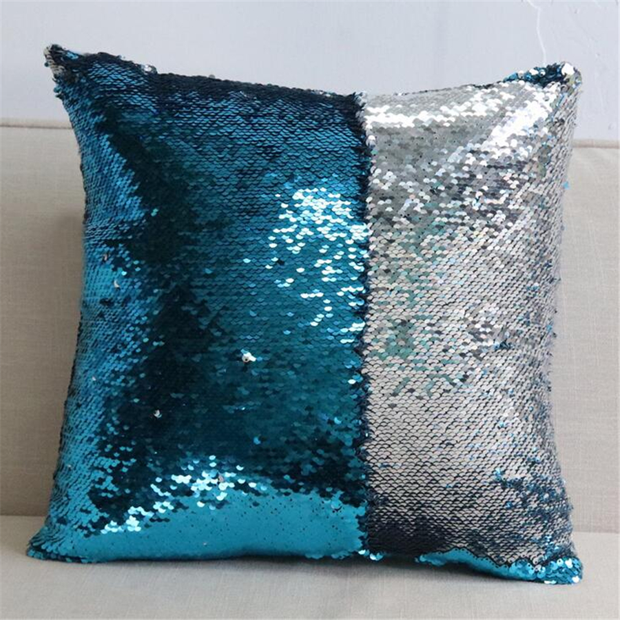 Colorful Decorative Reversible Fashion Magical Sequins Cushion Cover Home Decor Bed Sofa ...