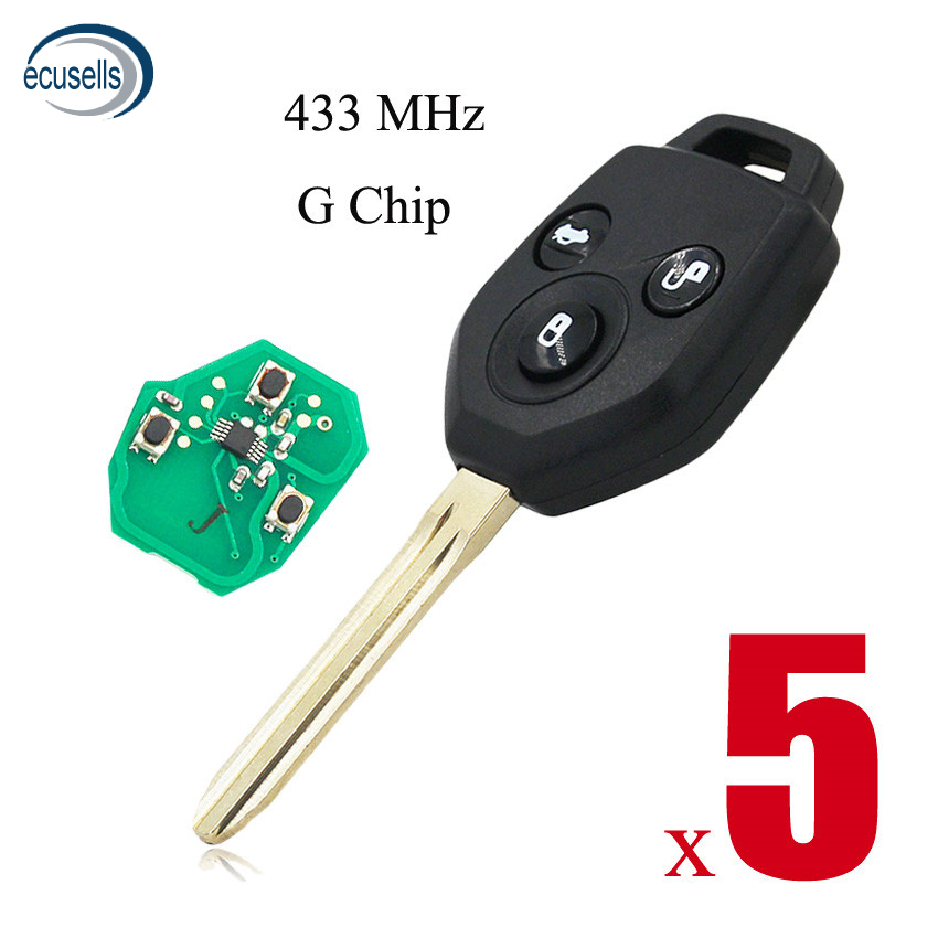 5PCS LOT 3 Buttons KEY KEYLESS ENTRY REMOTE FOB for SUBARU XV 2012 2015 Year with
