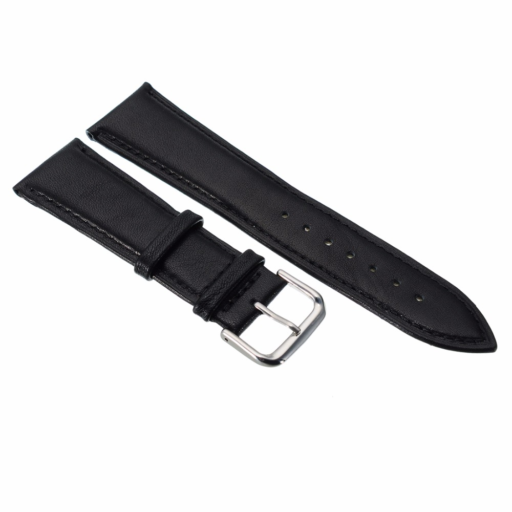 2017 12MM 14MM 16MM 18MM 20MM 24MM Genuine Leather Alligator Crocodile Grain Watch Strap Band Buckle