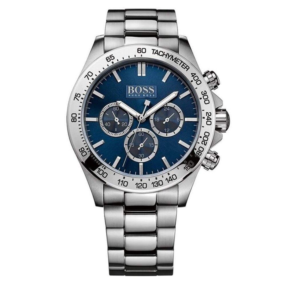 PATRON Allemagne montres hommes marque de luxe d'affaires quartz chronographe MIYOTA mouvement ceinture en acier montre hommes de montre