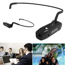 Authentic ORDRO Bone Conduction Bluetooth four .zero Hand Free Head Band Motion Mini DV Digicam Ordro Client Camcorders with earphone