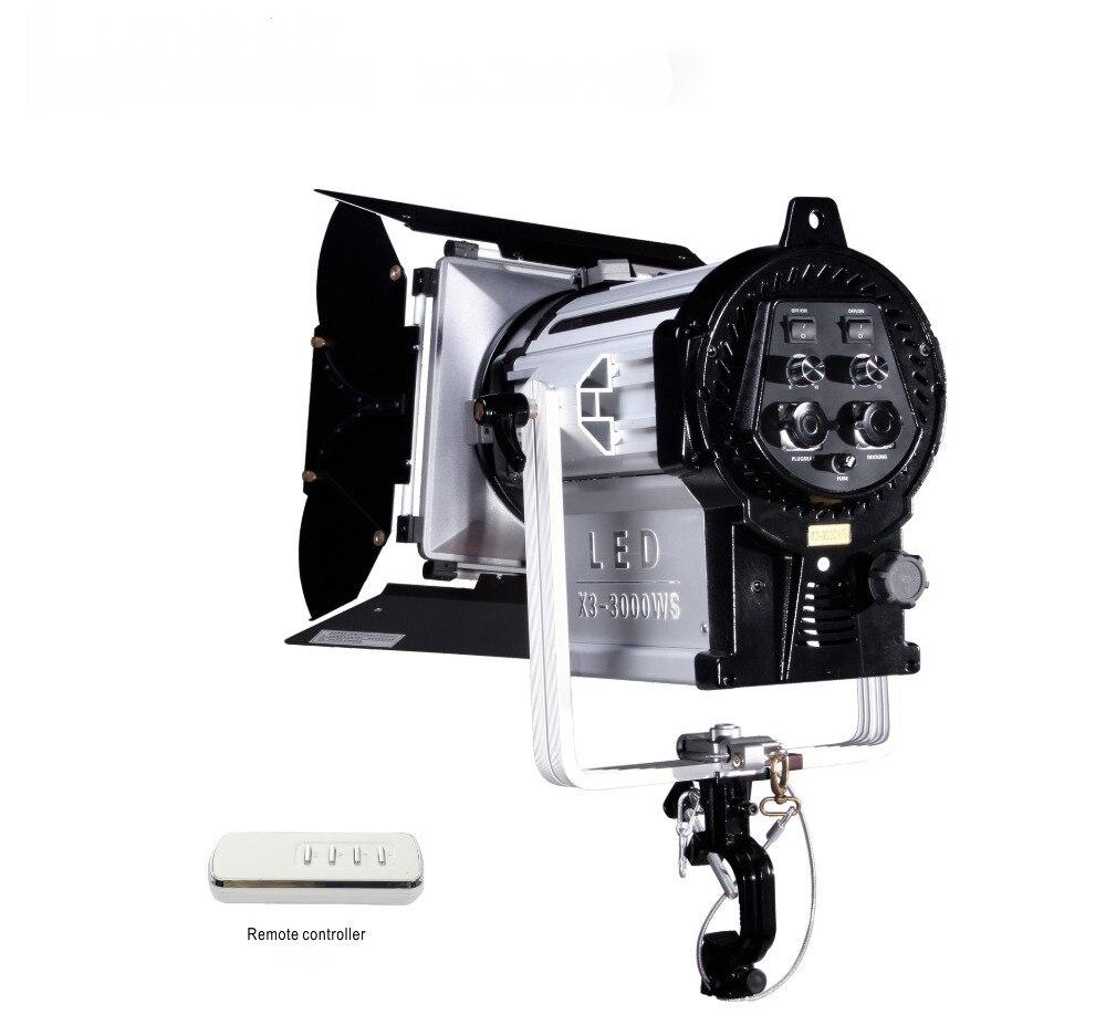 NiceFoto X3-3000WS éclairage photographique LED Film lumière Studio lumière Flash lampe puissance 200 W 5500 K