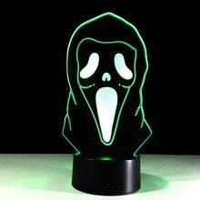 3D LED модель Хэллоуин маска модели led игрушки модель внутренней отделки свет орнамент подарок K418