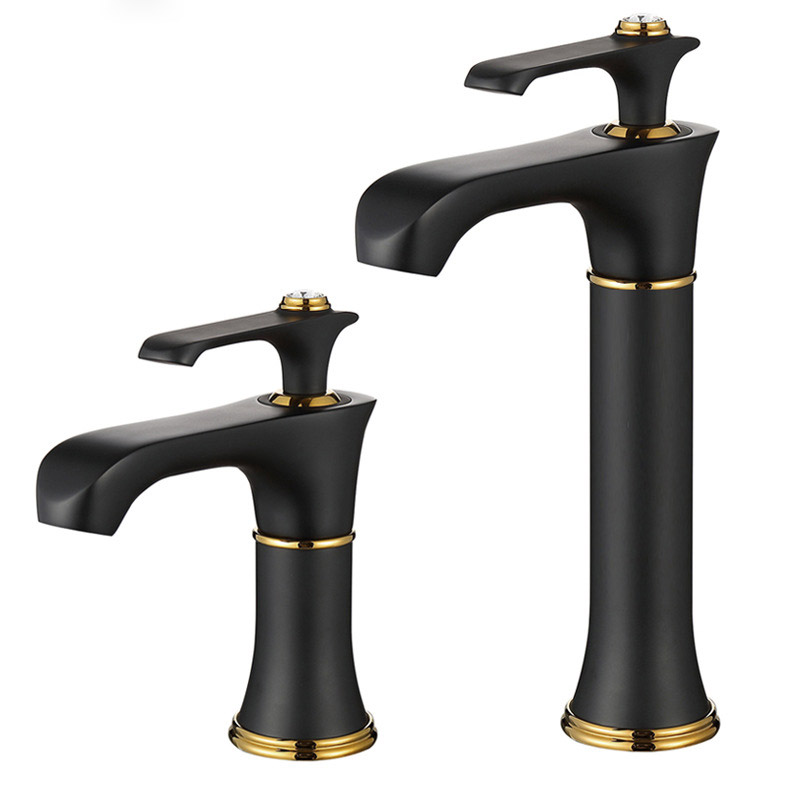 Factory direct sales new black paint basin faucet hot and cold wash wash basin faucets tapFactory direct sales new black paint basin faucet hot and cold wash wash basin faucets tap