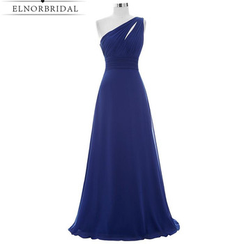Navy Blue Bridesmaid Dresses Floor Length 2020 One Shoulder Cheap Maid Of Honor Dress Robe Longue Weddings Party Gowns