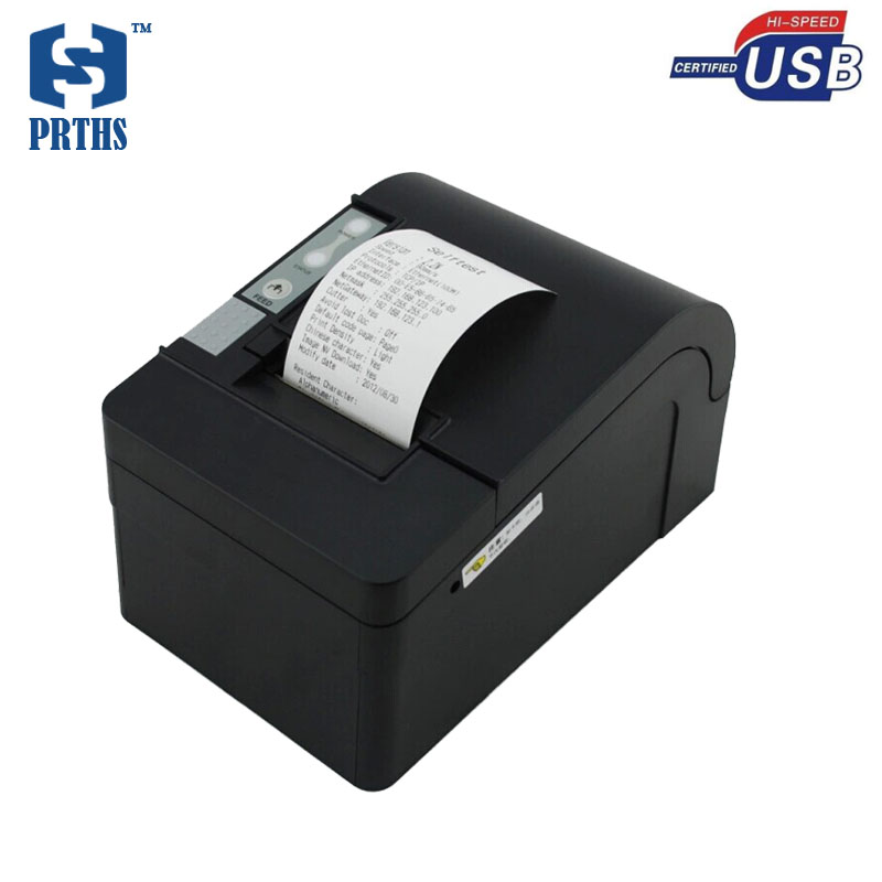 2 Inch Auto cutter thermal receipt printer POS58 USB impresora termica easy to operate with EU/BS/USA/AS plug support win8,10