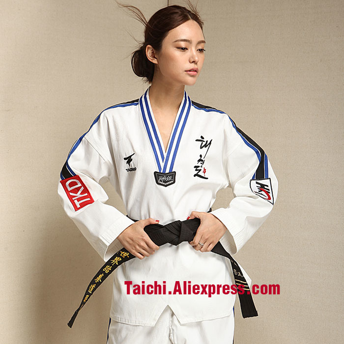 The High-end Genuine Children's Taekwondo Wear Long Sleeved Adult Male And Female Taekwondo Costume