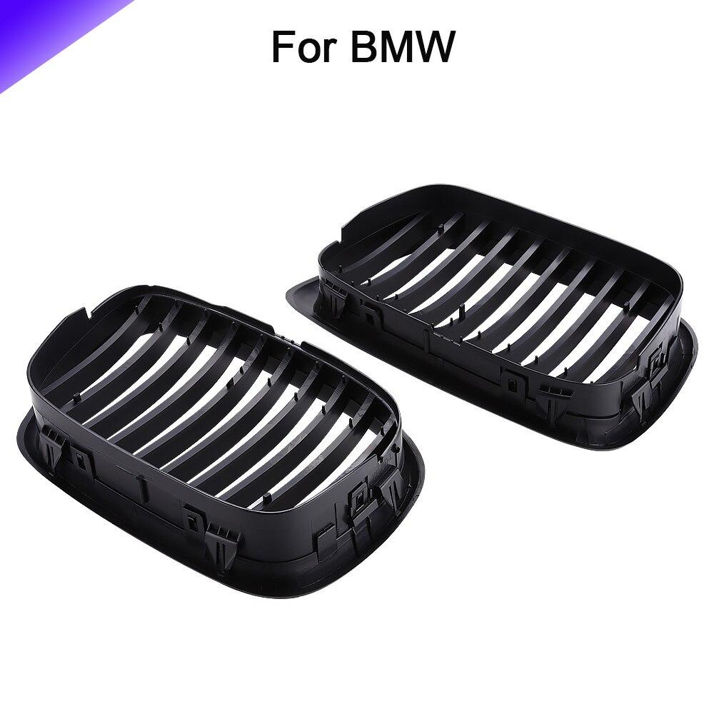 Gril de haute qualité 1 paire de grilles de calandre de capot de pare-chocs avant pour BMW 528i Base 1999 berline