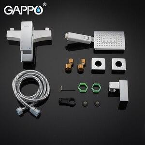 Image 5 - GAPPO küvet musluk banyo beyaz banyo duş bataryası küvet şelale musluk duş kulaklık batarya tasarrufu su muslukları