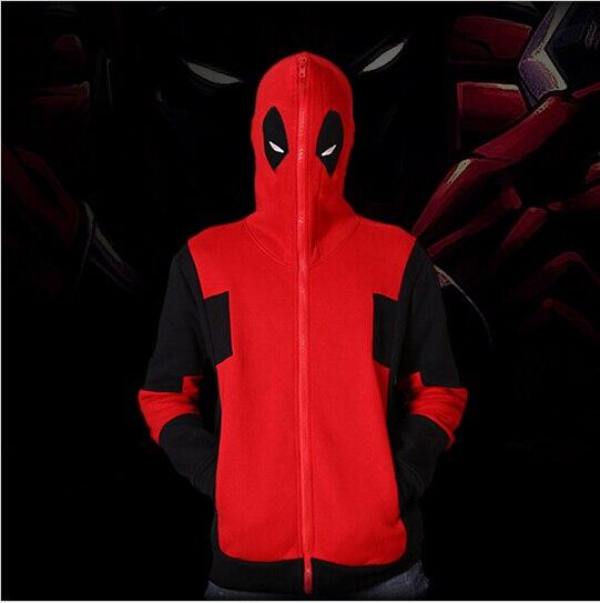 Deadpool Hoodie Marvel Comic Wade Wilson Hooded Sweatshirt Zipper Outerwear Jacket Winter 3D Hoodies Anime Characters Hoodies