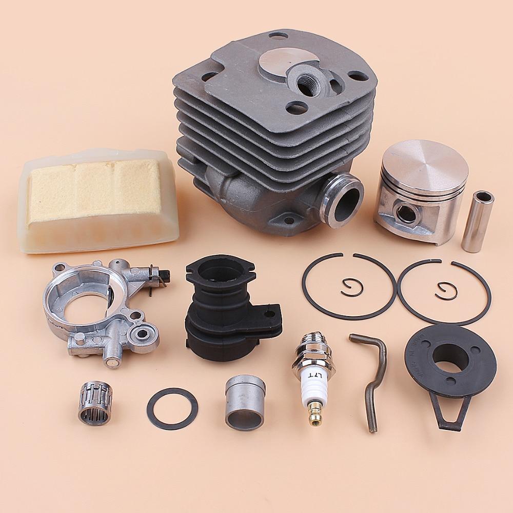 Pump Jonsered 371 Air 2065 Worm 365 2165 Piston 2171 Oil 2071 50mm 372 Gear for Kit Cylinder Husqvarna Motor 362 Chainsaw Filter