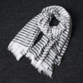 Fashion Winter Scarf Men Warm Soft Tassel Bufandas Cachecol Tassel Cotton Scarves