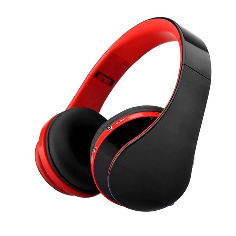 Folding HiFi Deep Bass Earphone Wired / Wireless Stereo Bluetooth Headphone Over-Ear Noise Cancelling Headset With Mic for Phone