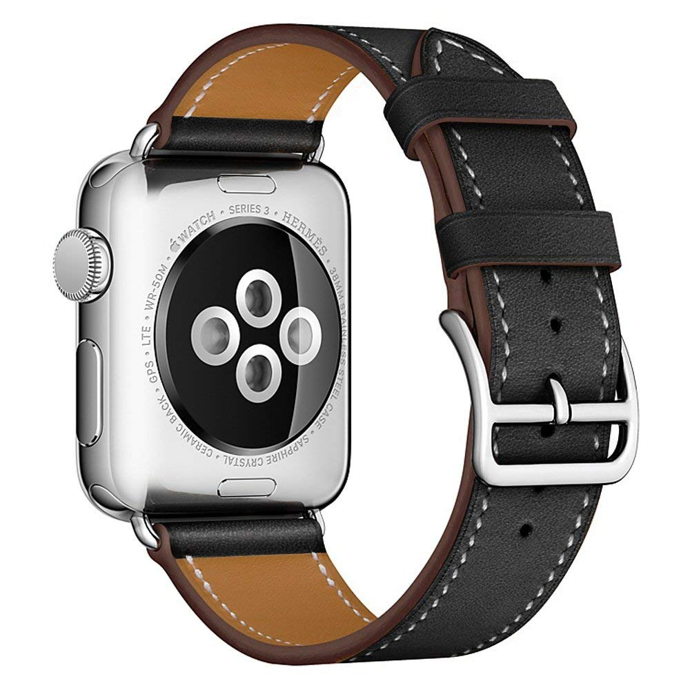 for apple watch bands 42mm 38mm genuine leather wristband iwatch series 4 3 2 1 strap bracelet wrist watchband belt accessories sport leather strap for apple watch band 38mm 42mm iwatch series 4 3 2 1 watchband replacement wristband women belt accessories