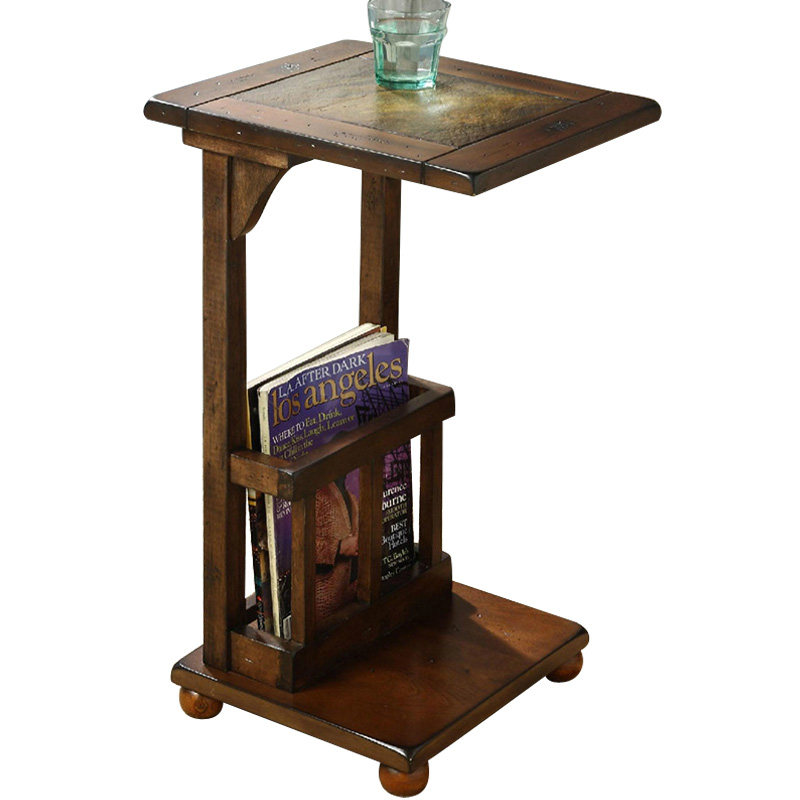 Nouveau bois canapé côté table avec table à thé de Pierre téléphone table carré porte-Revues table de chevet salon futniture