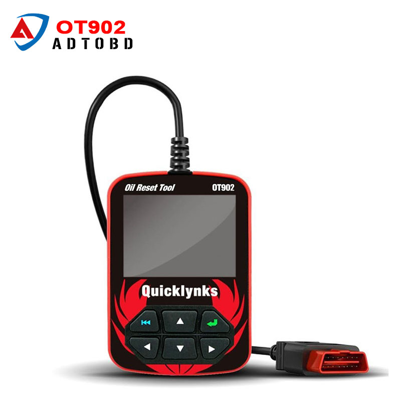 2017 New Arrivel 100% Original QuickLynks OBDII Oil Service Reset Tool OT 902 Airbag Reset Tool OT902 Free Shipping  si reset 10 in 1 universal service light and airbag reset tool