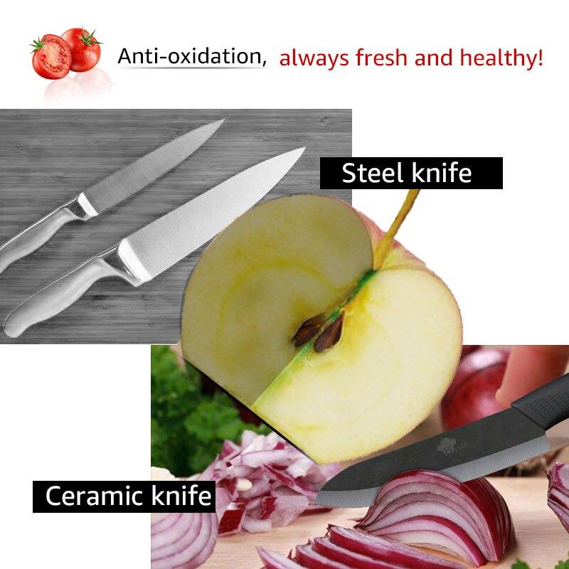 Kitchen Knives Cook Set Ceramic Knives Cook Set 3 4 5 6 inch Zirconia Ceramic Black Blade Paring Fruit Vege Chef Knife  1