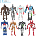 Venta caliente 12-13 cm 8 unids/set Real Steel Anime Figuras de Acción DEL PVC Colección Figuras juguetes brinquedos Cumpleaños de Flash regalos