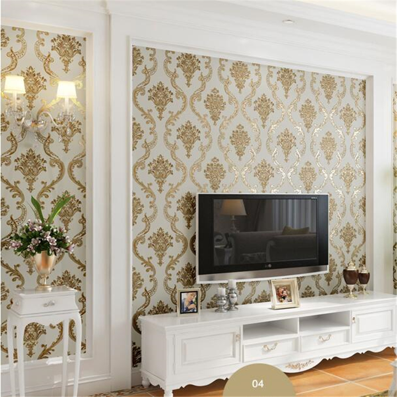 Beibehang papel de parede European style Damascus wallpaper nonwovens wallpaper living room 3D TV background wallpaper beibehang european simplified ab version with three wallpaper deer leather embossed environmental wallpaper papel de parede