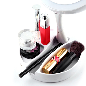 LED Lighted Folding Makeup Mirror 360 Degree 10X Magnifying Mirror With Lights Cosmetic Lighted Makeup Mirror Foldable Mirror 5