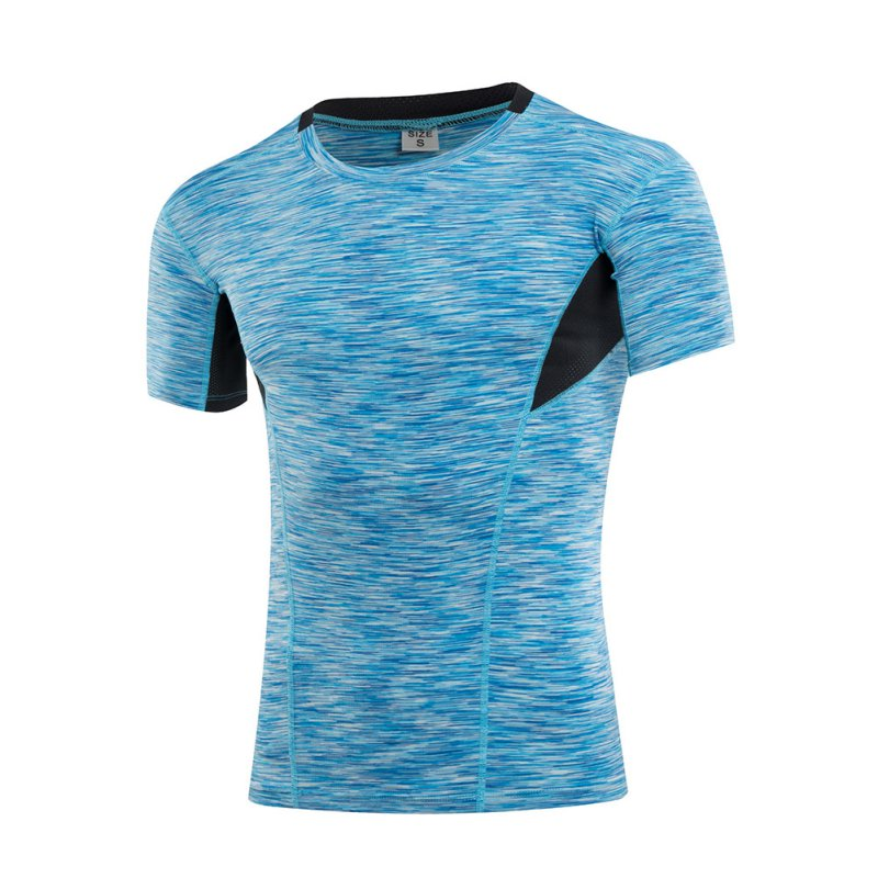 New Cool Men Boys Sport Shirts Short Sleeve Quick Dry Slim Running Fitness Gym T-shirt Sports Training Compression Tops