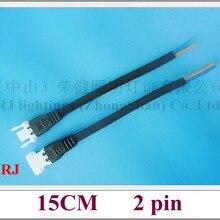 Стиль общий разъем провода кабеля мужского и женского пола для Светодиодный осветительные лампочки высокого напряжения и низкого напряжения(5 V-300 V) 15 см 2 pin-код