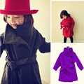 High quality 3 colors!!! 2017 Girls Outerwear Coats Children Fashion Trench Kids Winter Jacket Cotton Clothes girl clothing