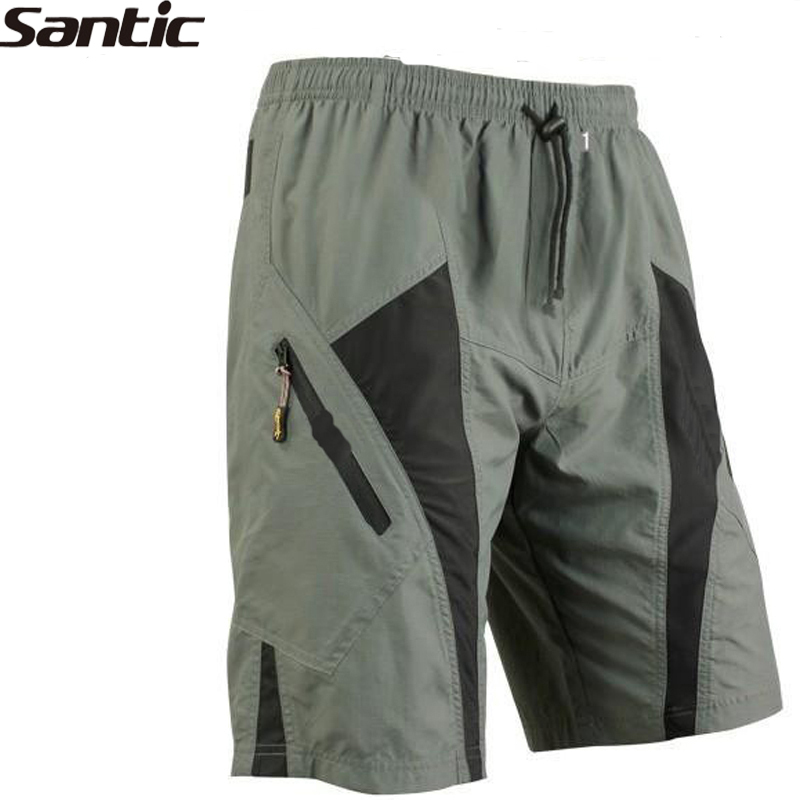 SANTIC Triathlon Men's Polyester Cycling Bike Shorts 1/2 Leisure Trousers 3D Pad Lining Underwear Bike Bicycle Cycle Sportswear
