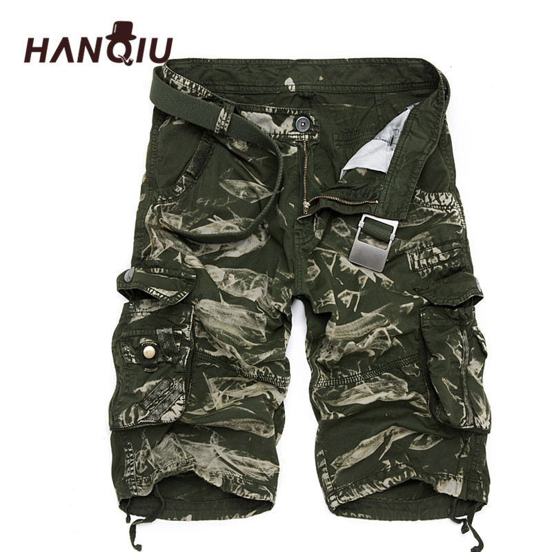 Military Cargo Shorts Mænd Sommer Camouflage Pure Cotton Brand Beklædning Komfortable mænd Tactical Camo Cargo Shorts