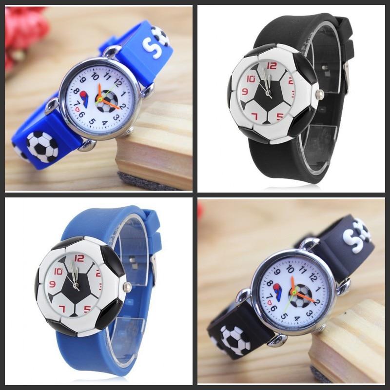 цена на New 3D cartoon football fashion Watches Children Kids watch Boys Watch Casual Quartz Wristwatch Montres Relogio kol saati