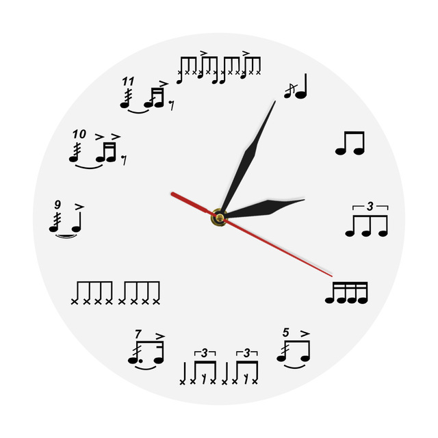sheet music notes wall art music room wall decor wall clock piano treble staff decorative art