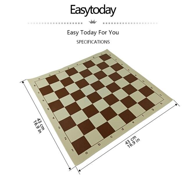 Easytoday-jeux d'échiquier, accessoires en cuir synthétique, échiquier Standard International 2