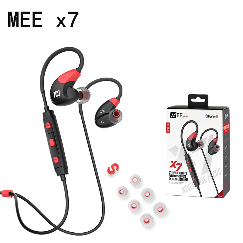 DHL Free! MEE Audio X7 Stereo Wireless Headphones Sports In Ear Bluetooth 4.1 Earphones With Mic PK PB2.0 Wireless Headset