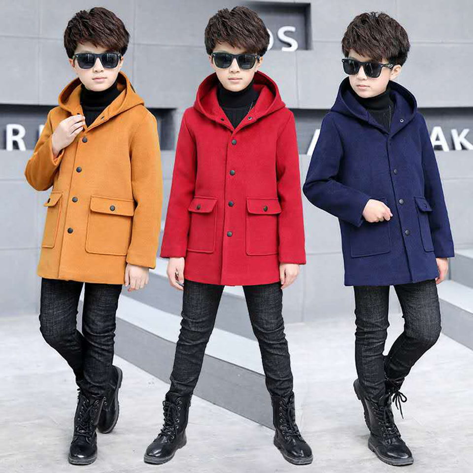 Autumn Winter Baby Boys Jacket 2018 Boys Coats Children Jacket Kids Hooded Warm Outerwear Coat For Boy Clothes 4 6 8 10 12 13Yrs children coats girl warm outerwear jacket autumn winter hooded coat teenager jackets for boys kids boy girls clothes age 2 14y
