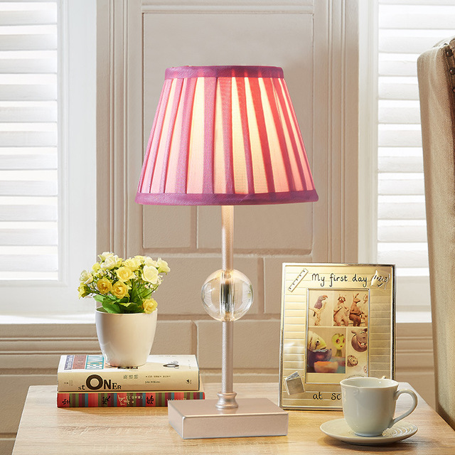 Yook Pink Crystal Table Lamp For Bedroom Bedside Lamp American