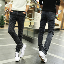 Gray Mens Jeans 2017 New Men Fashion Business Boys Best Pop Casual pants sell like Hot sale cakes Size 28-36 Left rom Hot goods