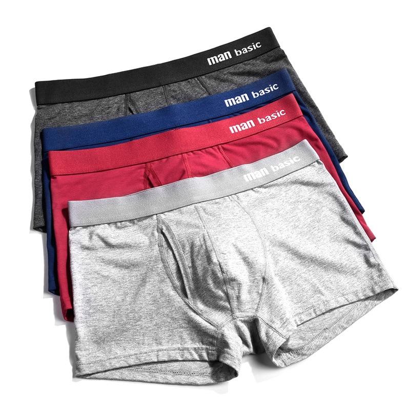 Hommes sous-vêtements 2020 hommes coton caleçons hommes culottes Shorts sous-vêtements Boxer Shorts S à 3XL Cuecas Calecon Homme Boxer