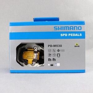 Image 5 - SHIMANO PD M530 SPD דוושת MTB הרי XC קליפלס אופני כולל SM SH51 סוליות אידיאלי עבור שביל ואופני הרים סיורים דוושה