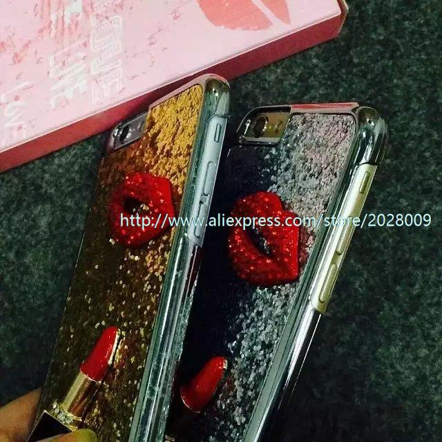 wholesale 100 pcs new case for iphone6 plus protective shell 4 7 5 5 sexy lips