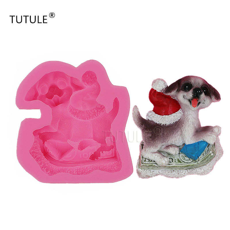 Gadgets- Funny dog mould,dog flexible mold, molds for polymer clay, epoxy resin and food, food-grade silicone mold