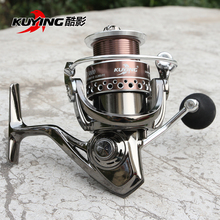 KUYING XD 13+1 Bearing Spinning Fishing Reel Pre-loading Fish Wheel Coil Vessel Metal Spool Long Distance Throwing Free Shipping