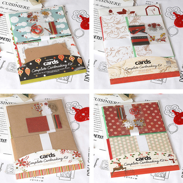 Eno greeting christmas card kit 6 cards complete cardmaking kit kids eno greeting christmas card kit 6 cards complete cardmaking kit kidsbeginner make your own m4hsunfo