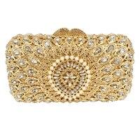 Pochette Soiree Mujeres embrague del partido del monedero del bolso de Tarde de La Flor Clásica Astilla Forma Patrón bolsas De Diamantes De Cristal de Lujo 88351