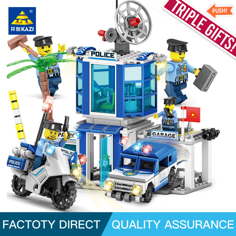 KAZI 67254 City police Building Block 4 in 1 explosion-proof special police force block Compatible legoe city toys for children благовония drug city wing special